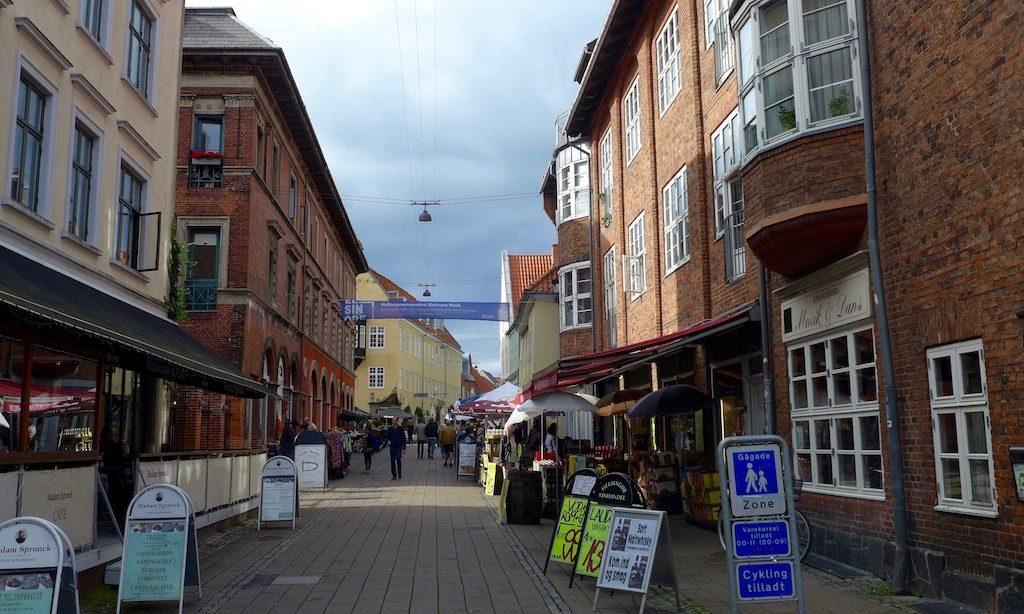 Fußgängerzone Seitenstraße in Hillerød