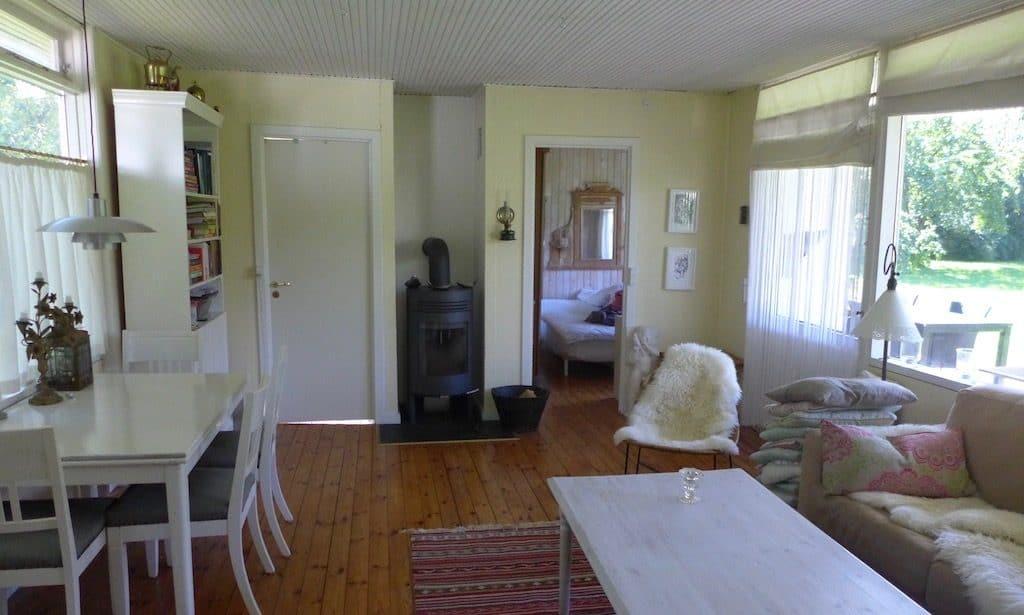 Airbnb Wohnung von innen in Udshold Strand in Dänemark