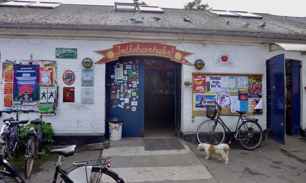 Ein Kiosk in Christiania