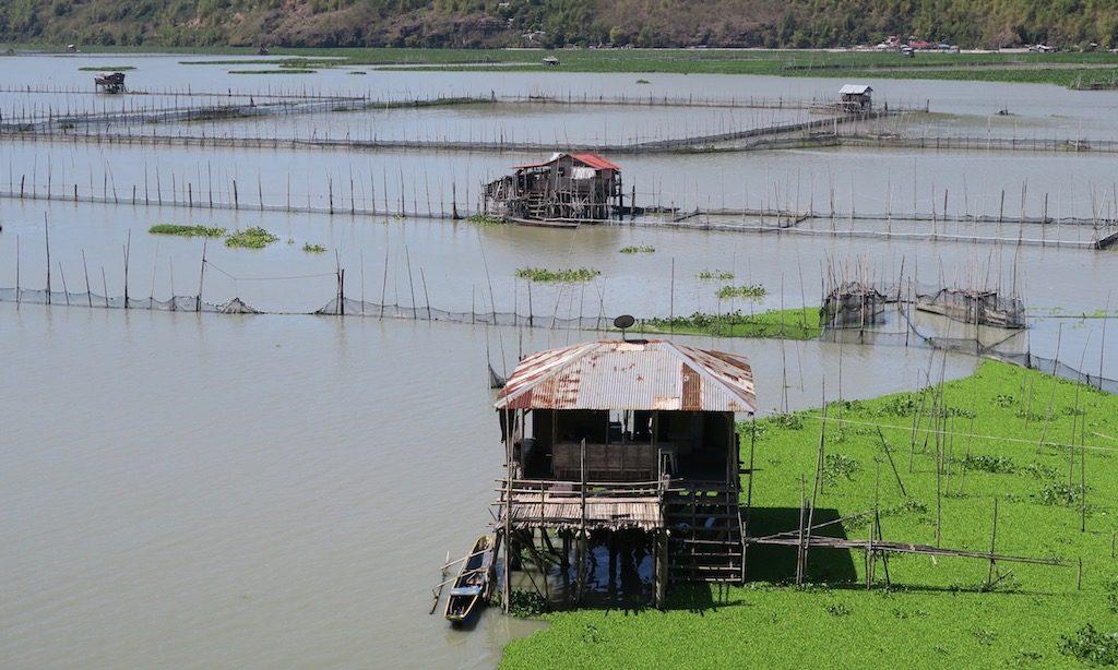 Fischerhütte am Laguna de Bay in Cardona, Rizal