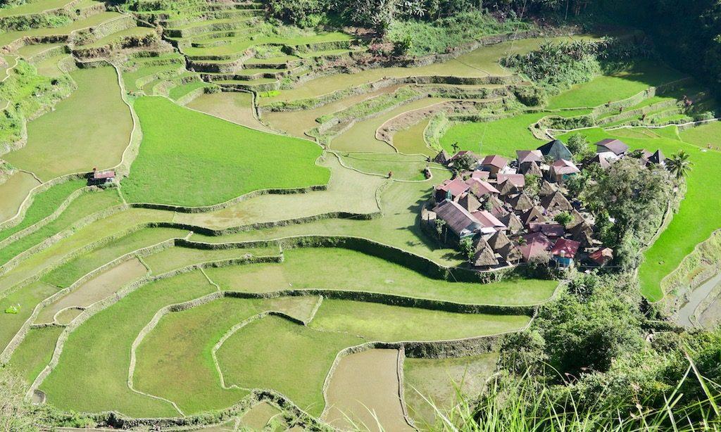 Das Bangaan Village von oben fotografiert