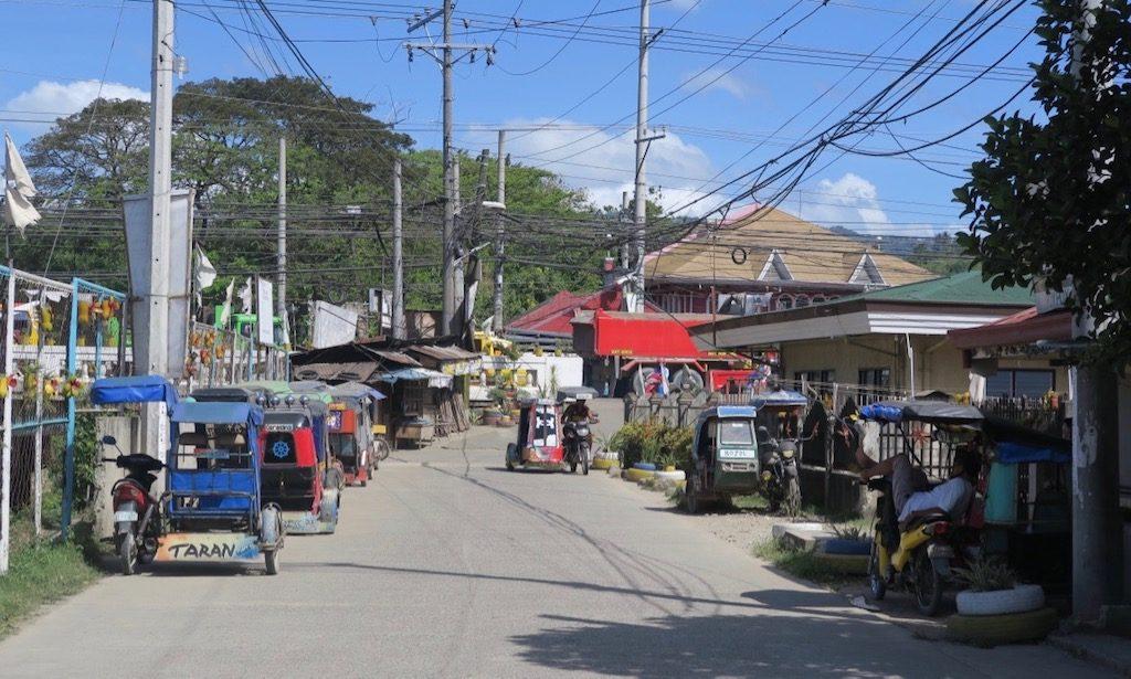 Parkende Tricycles Seitenstraße in Minagnilla