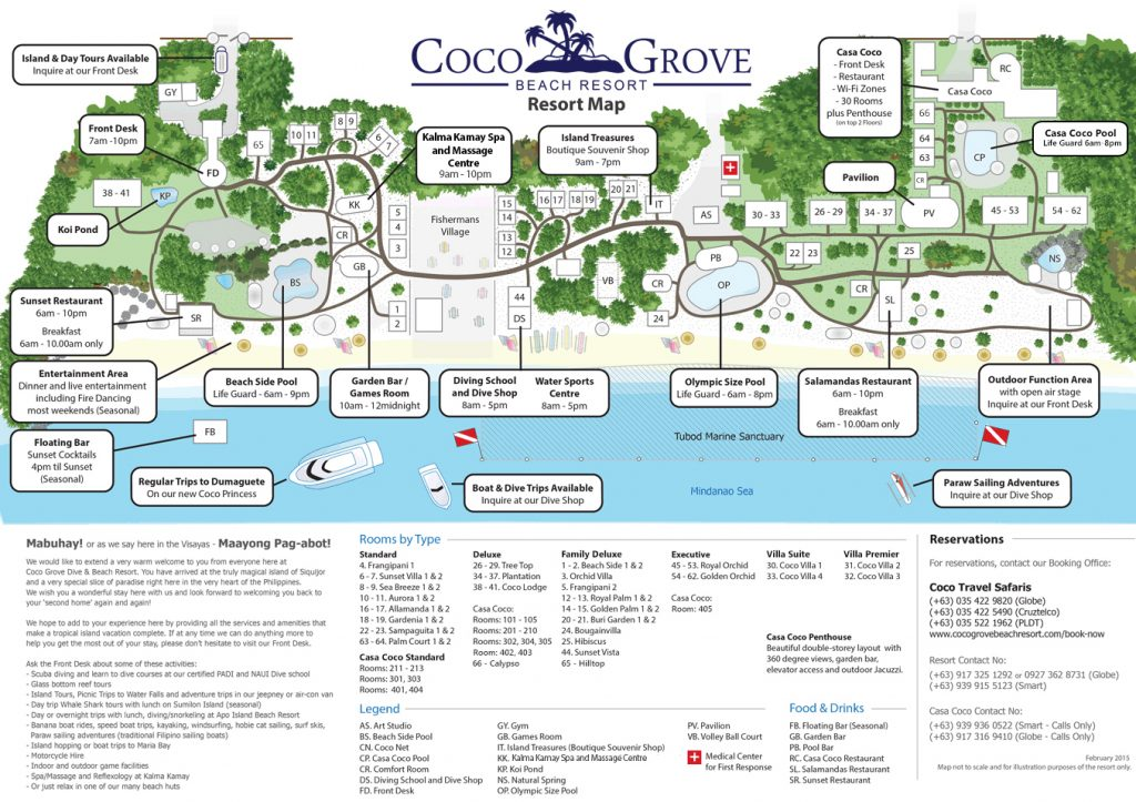 Coco Grove Resort Map