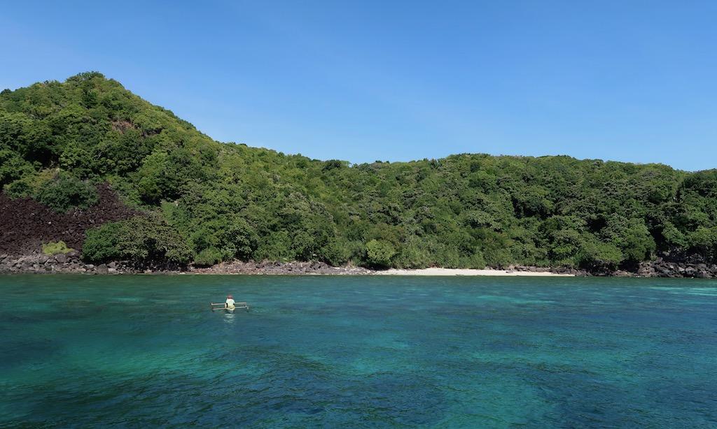 Der Rock West Beach von Apo Island