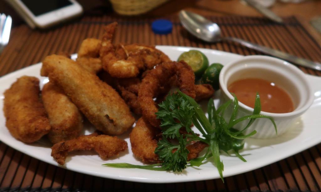 Fritiertes Seafood im Cassablanca Restaurant