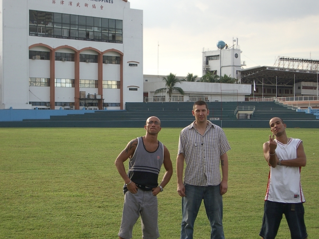 Dennis, Egozentrik und Bendja at Philippine Sports Commission
