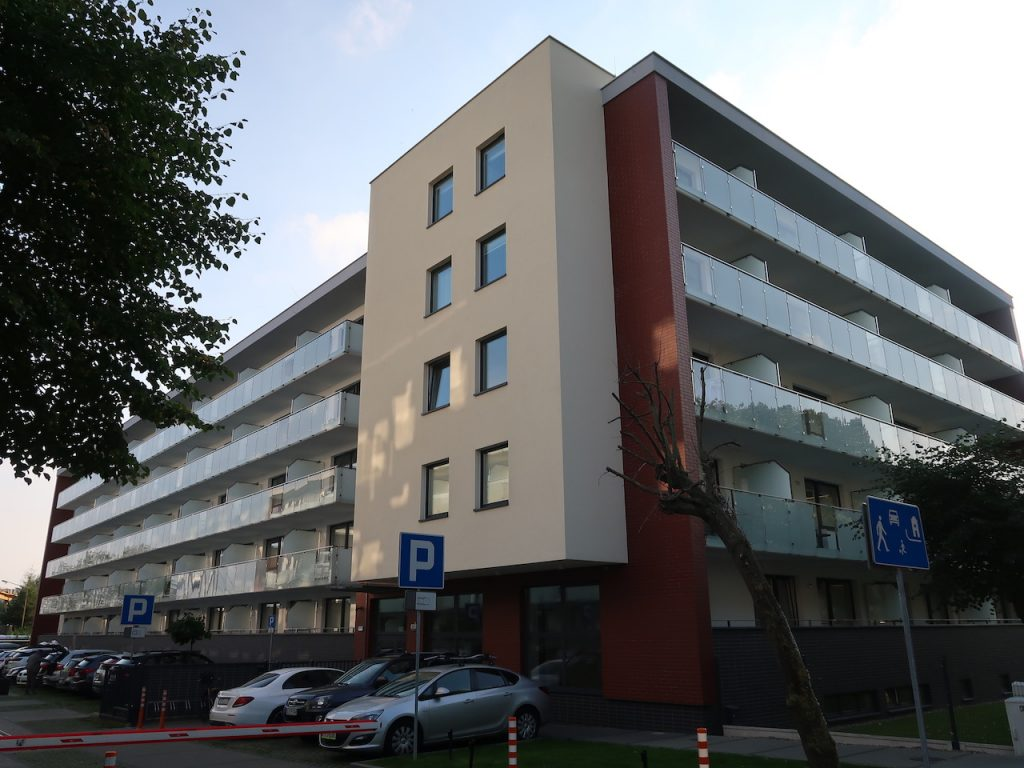 Appartment Blue Mare Blizej Morza in Kolberg von aussen